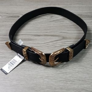 Lulus womens black casual belt